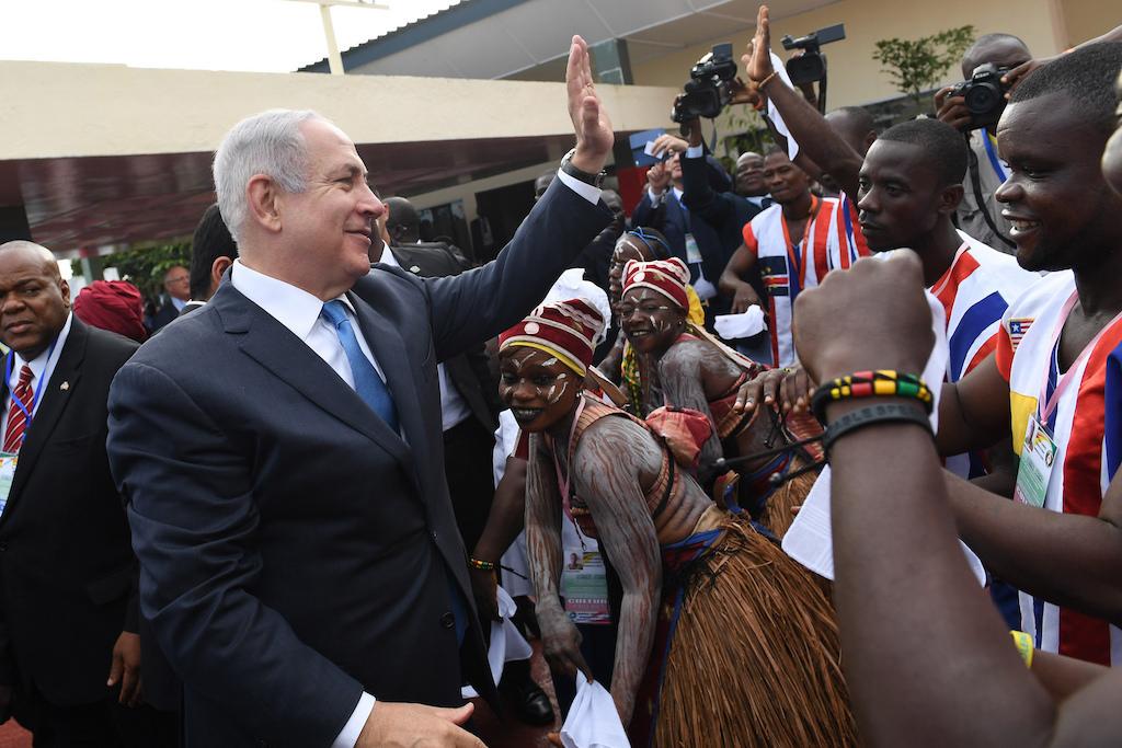 Benjamin Netanyahu in Liberia am ECOWAS Gipfel. Foto Kobi Gideon, GPO