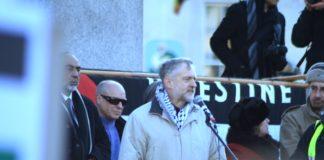 Jeremy Corbyn spricht an einer pro-Palästinensischen Demo am Trafalgar Square. Foto Davide Simonetti / flickr.com. Attribution-NonCommercial 2.0 Generic (CC BY-NC 2.0)