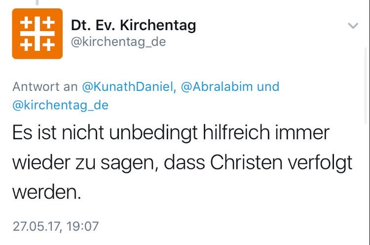 ScreenShot Twitter / kirchentag_de