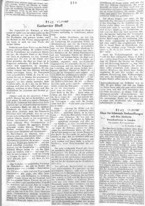 Neue Zürcher Zeitung vom 11. Juni 1967. Quelle: Archiv für Zeitgeschichte ETH Zürich