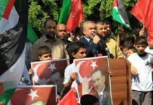 Hamas Kundgebung in Gaza zur Unterstützung Erdogans, Juli 2016. Foto Palestinian Media Agency-ALRAY
