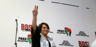 Leila Khaled. Foto BDS South Africa/Facebook