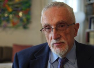 Manfred Gerstenfeld ist ein Publizist und ehemaliger Vorsitzender des Präsidiums des Jerusalem Center for Public Affairs. Foto Screenshot Youtube