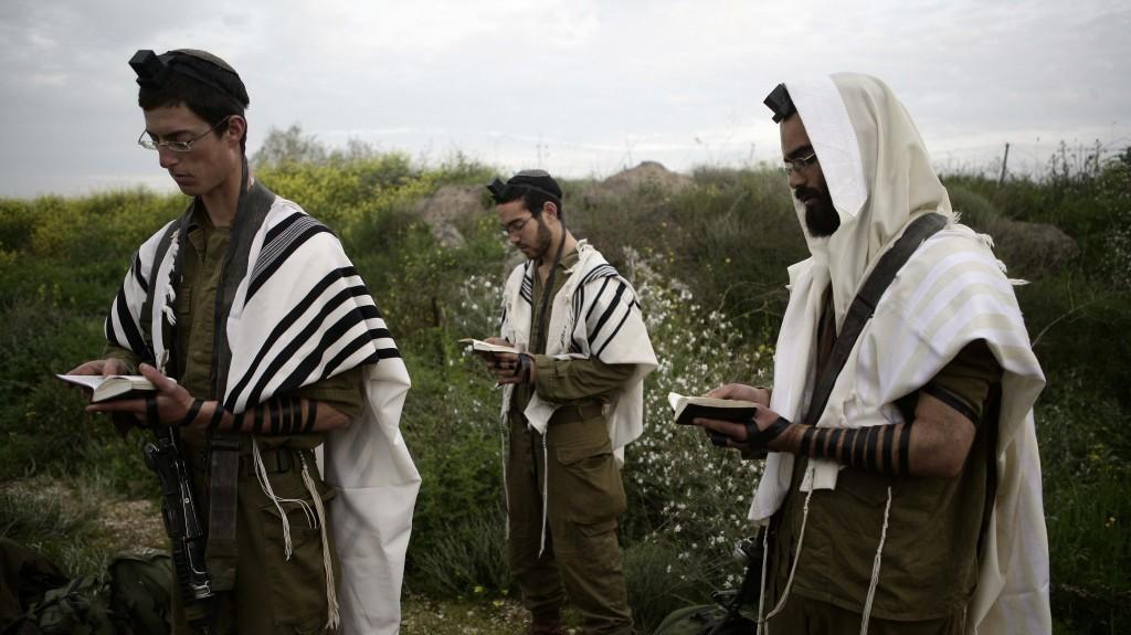 Angehörige von Nahal Haredi, ein ultra-orthodoxes Battalion in der IDF. Foto Abir Sultan/Flash90