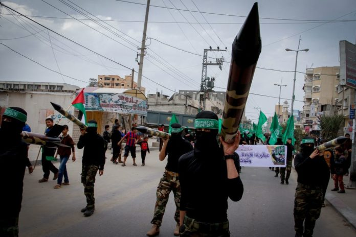 Hamas Kundgebung in Gaza. Foto Abed Rahim Khatib/Flash90