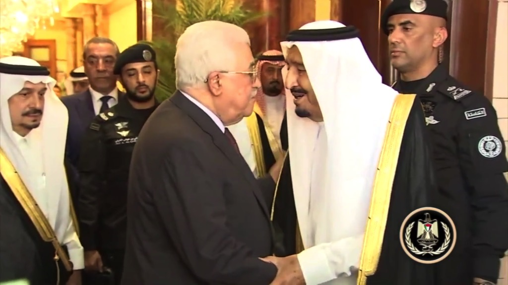 Mahmoud Abbas in Riad. Foto Screenshot Youtube