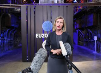 Federica Mogherini, Hohe Vertreterin der EU für Aussen- und Sicherheitspolitik. Foto EU2017EE Estonian Presidency - informal meeting of foreign affairs ministers (Gymnich). Exit doorstep, CC BY 2.0, https://commons.wikimedia.org/w/index.php?curid=62269890