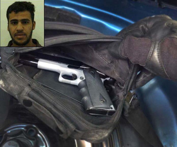 Die Waffe des Anführers der Hamas- Zelle, Mu'ad Ashtiyeh. Foto Shin Bet
