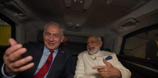 Israels Ministerpräsident Benjamin Netanjahu mit dem Premierminister Indiens Narendra Modi. Foto Haim Zach/GPO