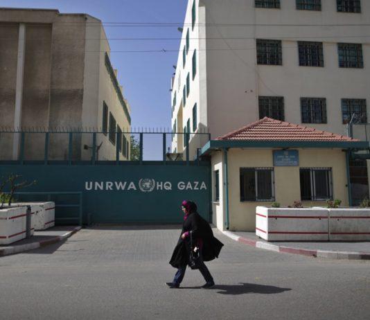 Das UNRWA-Hauptquartier in Gaza. Foto Wissam Nassar/ Flash90