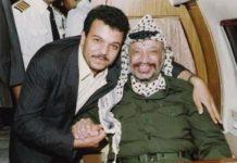 Mohammed Al-Dayeh mit Yasser Arafat. Foto Palestine News / Twitter