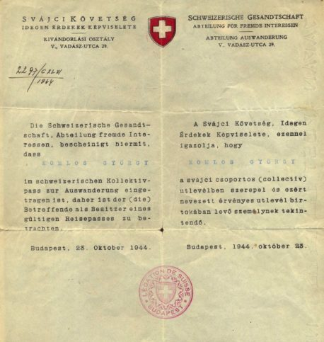 Schutzbrief. Foto zVg