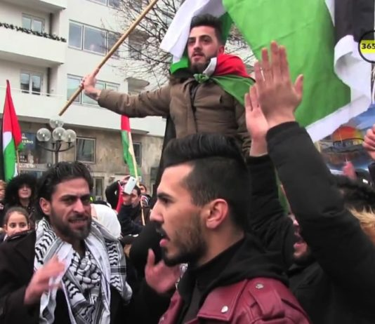 Jerusalem Demonstration in Schweden im Dezember 2017. Foto Screenshot Youtube / 365TV Dagar Om Året l Göteborg