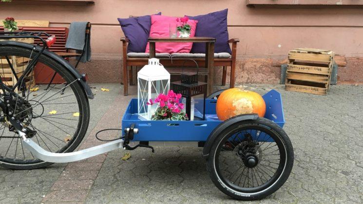 Fahrrad-Einkaufswagen TReGo. Foto TReGo