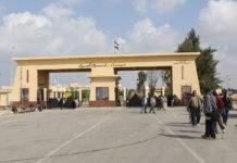 Der Grenzübergang in Rafah. Foto Gigi Ibrahim - Flickr: Egyptian Convoy to Gaza, Palestine, CC BY 2.0, https://commons.wikimedia.org/w/index.php?curid=31361720
