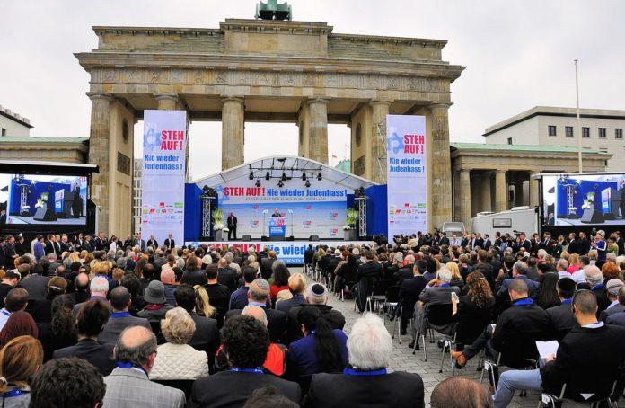 Kundgebung des Zentralrats der Juden in Deutschland gegen Judenhass, 14. September 2014. Foto Michael Thaidigsmann - Eigenes Werk, CC-BY-SA 4.0, https://commons.wikimedia.org/w/index.php?curid=35759951