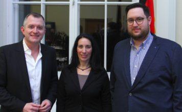 WerteInitiative e.V. Vorstand v.l.n.r.: Elio Adler, Lydia Bergida, Daniel Kohn. Foto WerteInitiative
