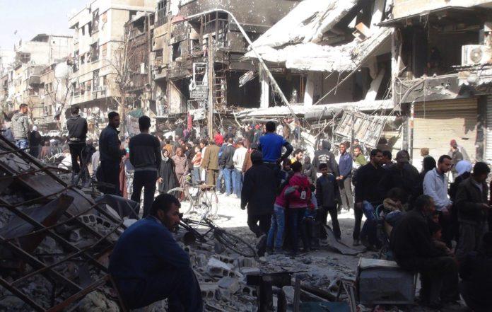 Das palästinensische Flüchtlingslager Yarmouk in Syrien wird seit mehr als 1.660 Tagen von der syrischen Armee belagert. Foto Screenshot Youtube