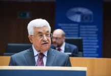 Mahmoud Abbas im EU-Parlament in Brüssel. Foto © European Union 2016