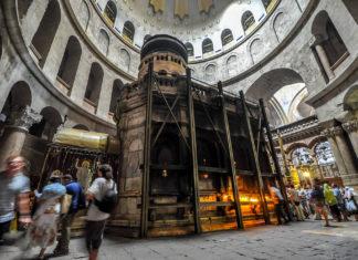 Die Grabeskirche ist eine Kirche im christlichen Viertel der ummauerten Altstadt von Jerusalem. Foto Jlascar - https://www.flickr.com/photos/jlascar/10350934835/, CC BY 2.0, https://commons.wikimedia.org/w/index.php?curid=34030982