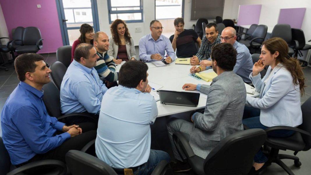 Ein Meeting im Nazareth Business Incubator Center. Foto Nazareth Business Incubator Center