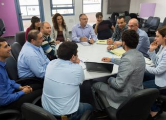 Ein Meeting im Nazareth Business Incubator Center. Foto Nazareth Business Incubator Center