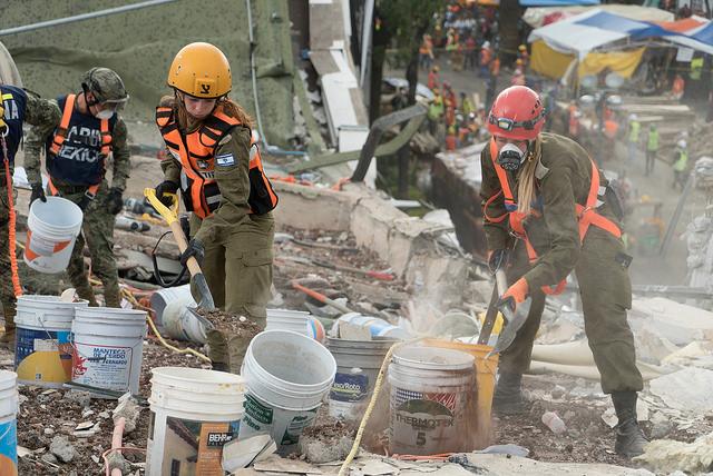 Israel hilft bei Erdbeben in Mexico 2017. Foto IDF Spokesperson's Unit.