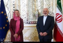 Der iranische Aussenminister Mohammad Javad Zarif und die EU-Aussenministerin Federica Mogherini in Teheran im Juli 2015. Foto Tasnim News Agency. Creative Commons Attribution 4.0 International License.