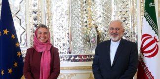 Der iranische Aussenminister Mohammad Javad Zarif und die EU-Aussenministerin Federica Mogherini in Teheran im Juli 2015. Foto Tasnim News Agency. Creative Commons Attribution 4.0 International License.