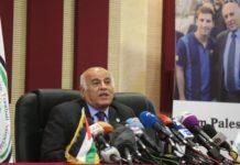 Jibril Rajoub Präsident des Palästinensischen Fussballverbandes. Foto Alquds News