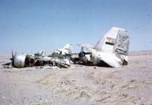 Ein ägyptisches Flugzeug, das im Sechstagekrieg abgeschossen wurde. Foto יחזקאל רחמים , CC BY-SA 4.0, https://commons.wikimedia.org/w/index.php?curid=66122071