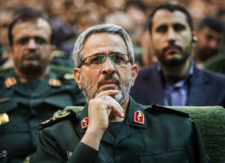 General der iranischen islamischen Revolutionsgarde Gholamhossein Gheybparvar. Foto Tasnim News Agency, CC BY 4.0, https://commons.wikimedia.org/w/index.php?curid=54169080
