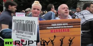 BDS Demonstration in Irland. Screenshot Youtube