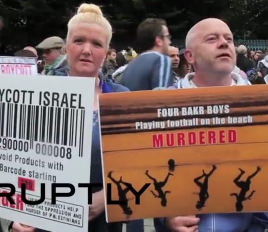 BDS Demonstration in Irland. Screenshot Youtube