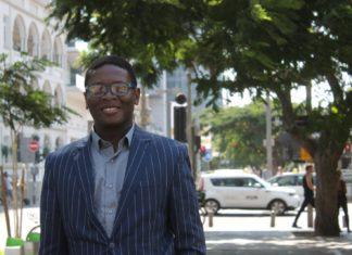 David Tosin Bakare, der erste Afrikaner, der im internationalen MBA-Programm der Bar-Ilan-Universität studiert. Foto Ilanit Chernick/TPS.