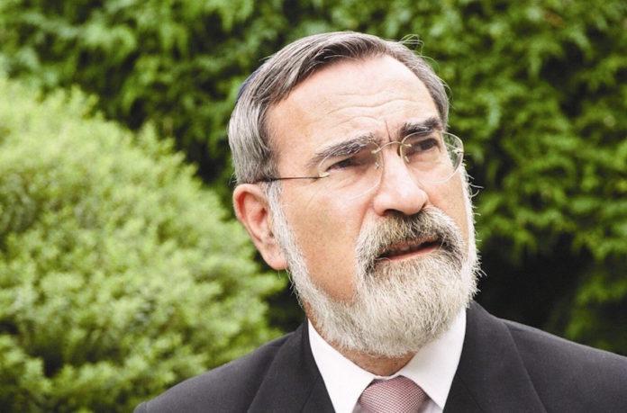 Der ehemalige britische Oberrabbiner Lord Sacks. Foto United Synagogue via JTA