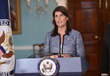 Nikki Haley, US-Botschafterin bei den Vereinten Nationen. Foto U.S. Department of State from United States. Gemeinfrei, https://commons.wikimedia.org/w/index.php?curid=70119559