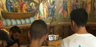 Christen der griechisch-orthodoxen Kirche in Kafarnaum. Foto TPS