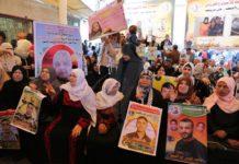 """Sogenannte palästinensische """"Märtyrerfamilien"""" demonstrieren in Gaza. Foto Twitter / Paltoday"""