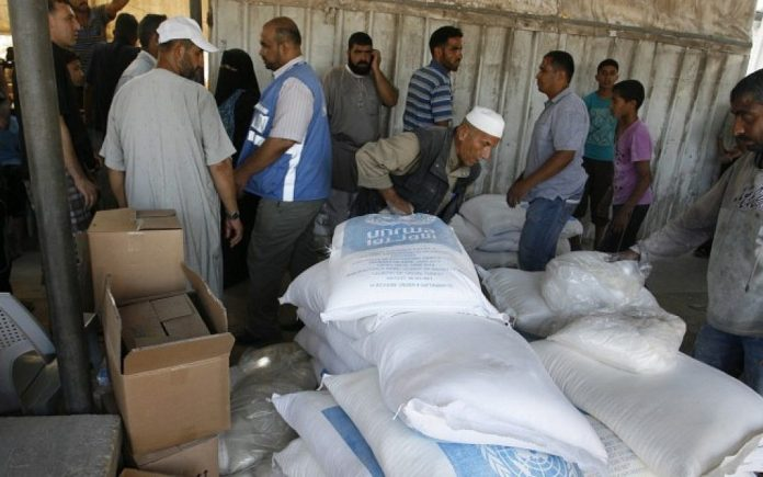 UNRWA in Gaza. Foto Abed Rahim Khatib/Flash90.