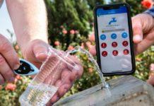 TestDrop Pro von Lishtot findet Verunreinigungen im Wasser, ohne das Wasser zu berühren. Foto Oliver Fitoussi/Lishtot.