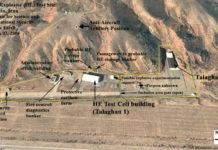 Ein Google Earth Satellitenbild zeigt den Parchin-Komplex, der an Kernwaffen-Hochexplosivtests im AMAD-Projekt beteiligt war. Foto Google Earth / Institute for Science and International Security