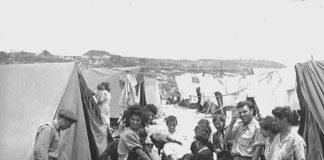 Jüdische Flüchtlinge im Transitlager Ma'abarot, 1950. Foto Von Jewish Agency for Israel - https://www.flickr.com/photos/jewishagencyforisrael/4068140175/in/set-72157622639806938?edited=1, Gemeinfrei, https://commons.wikimedia.org/w/index.php?curid=9641908
