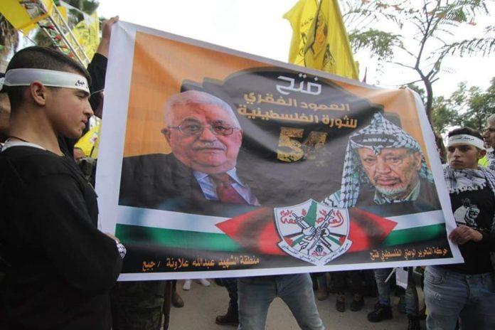 54 Jahre-Fatah Kundgebung. Foto Fatah-Facebook Seite