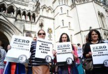 "Kundgebung gegen Antisemitismus in Grossbritannien. Foto ""Campaign Against Antisemitism""."