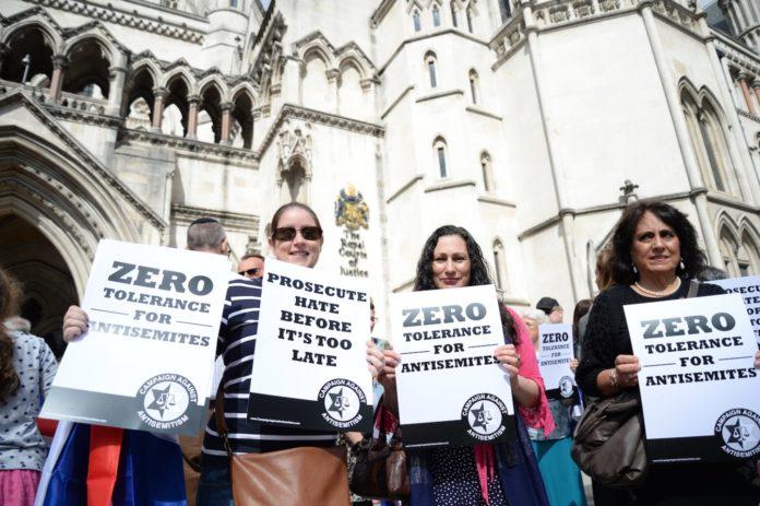 Kundgebung gegen Antisemitismus in Grossbritannien. Foto