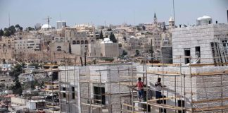 Baustelle in Maale Zeitim. Foto Yossi Zamir/ Flash90