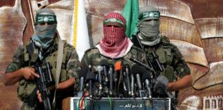 Mitglieder von Hamas' Izz ad-Din al-Qassam Brigaden. Foto Rahim Khatib/Flash90
