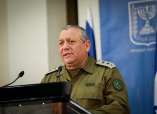 IDF-Chef Gadi Eizenkot am 4. Dezember 2018 während einer Pressekonferenz am Hauptsitz des Verteidigungsministeriums in Tel Aviv. Foto Noam Revkin Fenton/Flash90