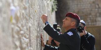 Der neue IDF-Stabschef Aviv Kochavi an der Kotel am 15. Januar 2019. Foto Yonatan Sindel/Flash90